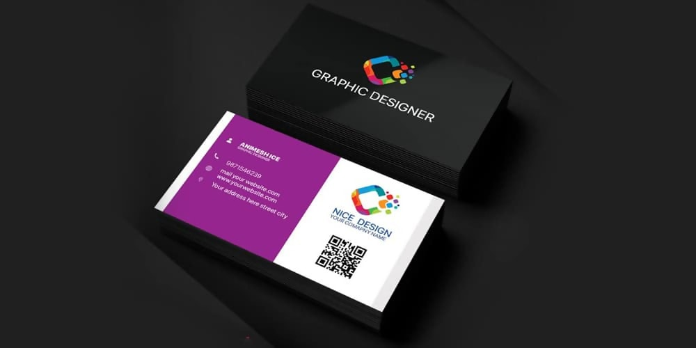 Free Graphic Designer Business Card Template PSD