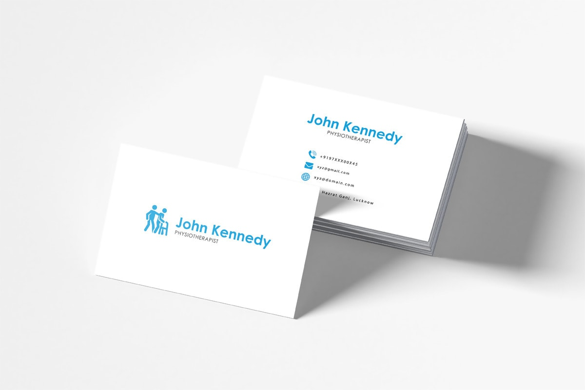 Free Physiotherapy Business Card Mockup