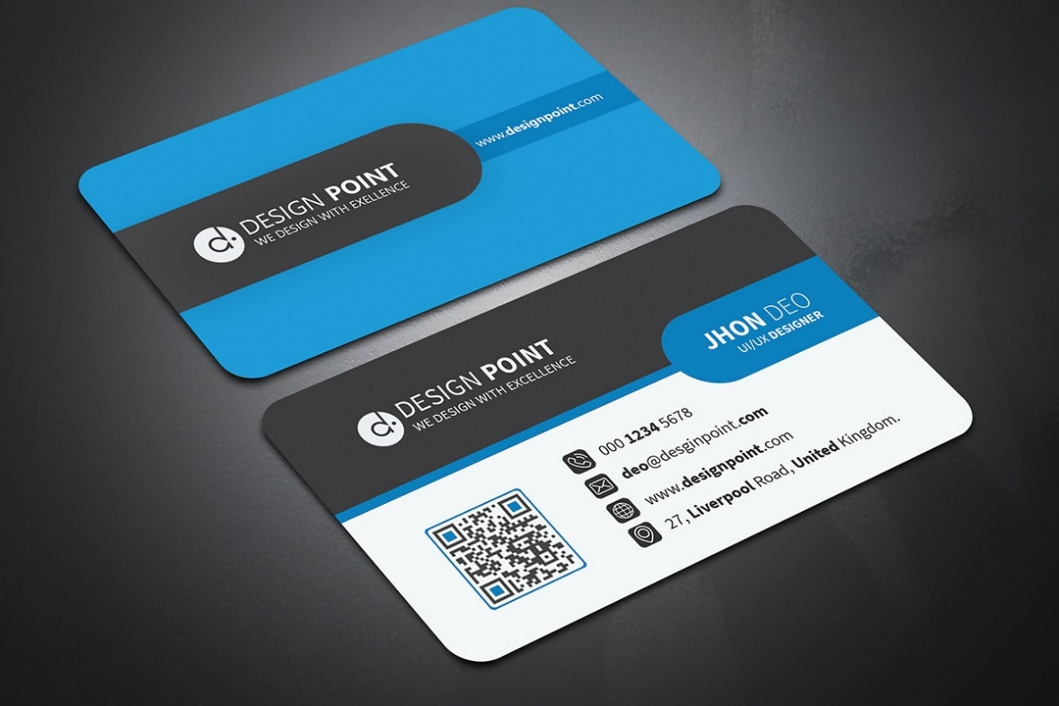 Curved Creative Business Card