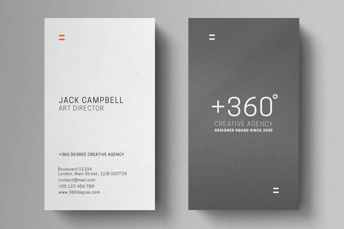 Grey and White Vertical Card Template