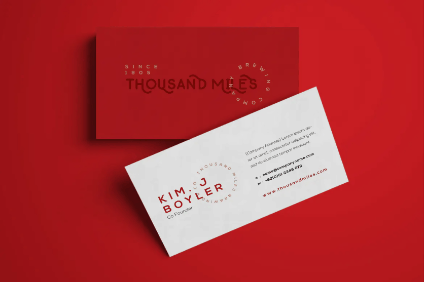 Brewing Company Business Card PSD