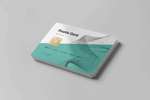 Plastic Business Card Template Design with Chip