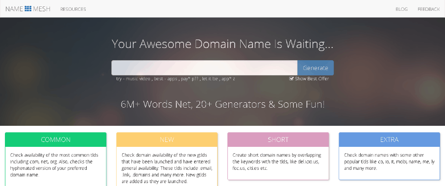 Domain Name Search Resources