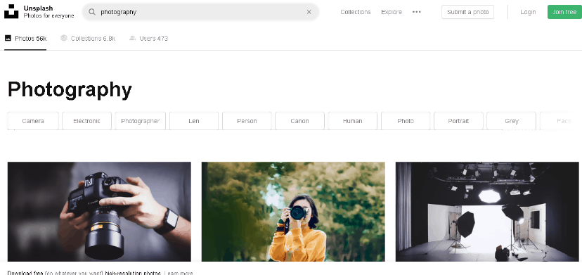 Free Photography Resource Websites