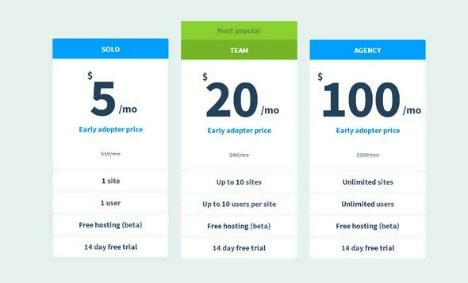 Unique Free Pricing Tables Template