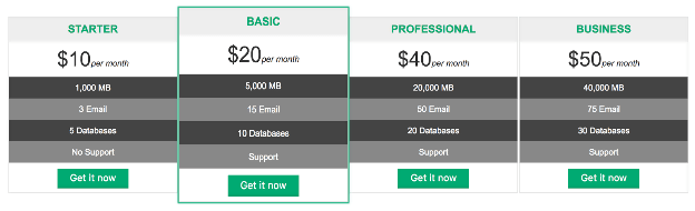 Animated Pricing Table with Beautiful Button 2