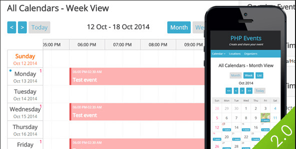 PHP LBEvents - Events Calendar