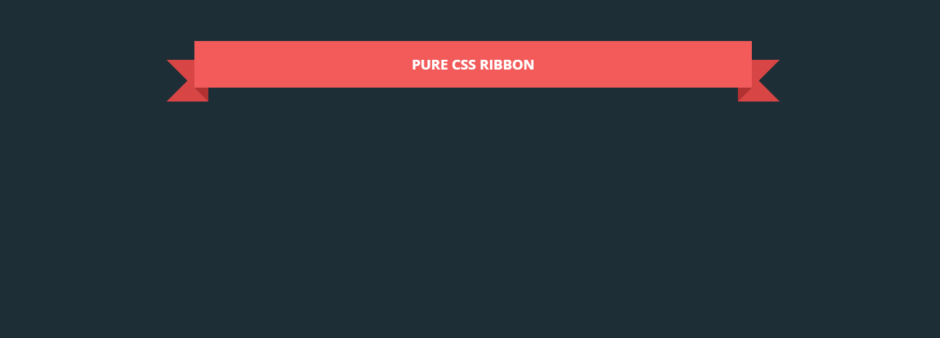 Pure CSS Ribbon by Arlina Design