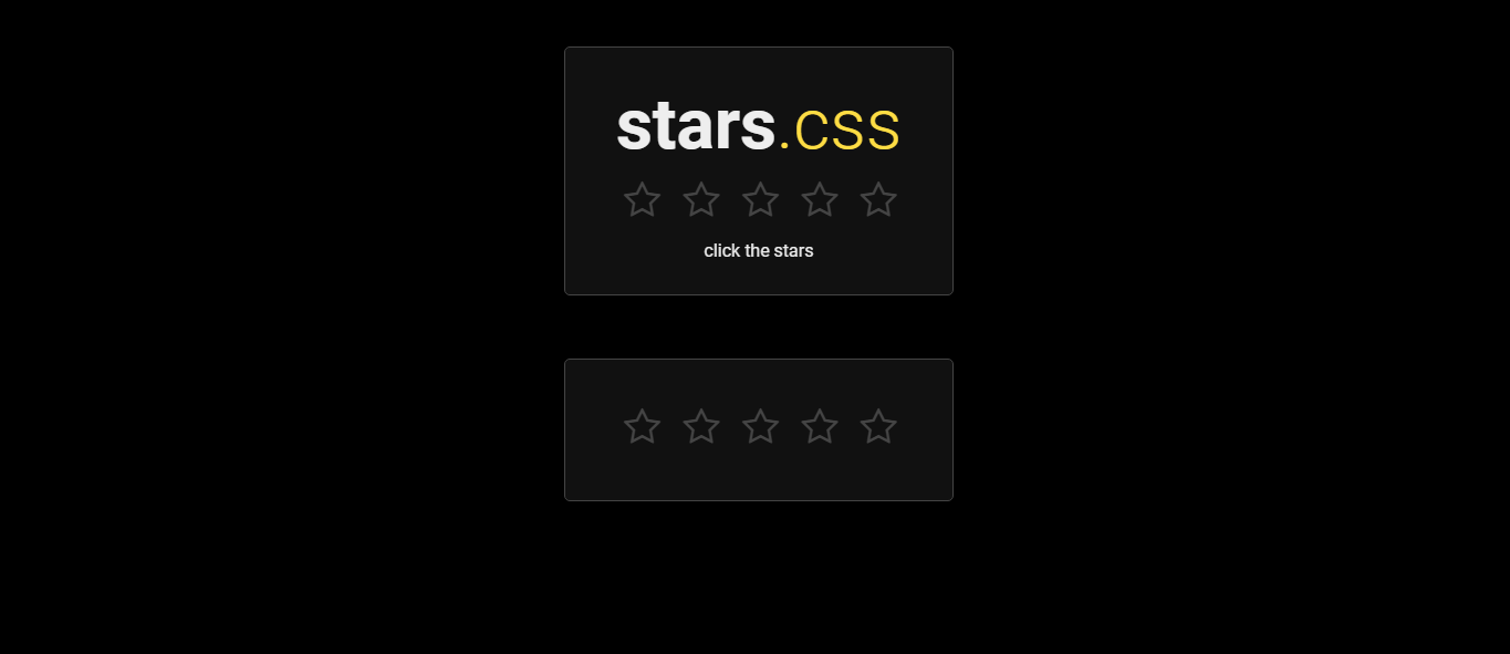 Stars for Rating