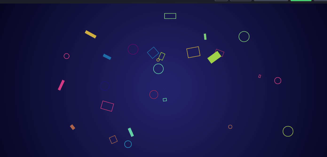 CSS Particles Background