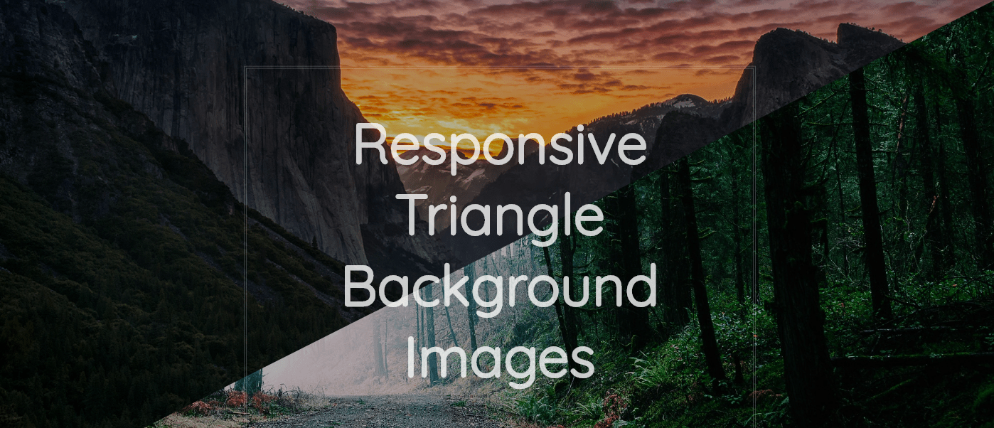 Responsive Triangle Background Images