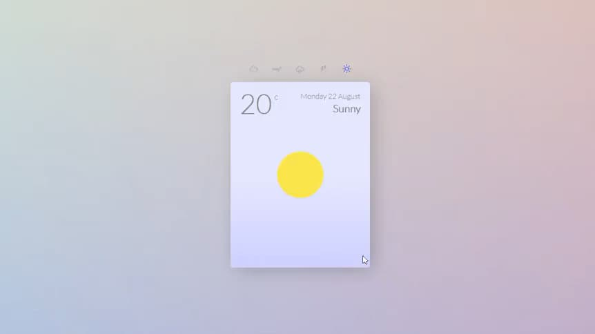 Animated jQuery Weather Card