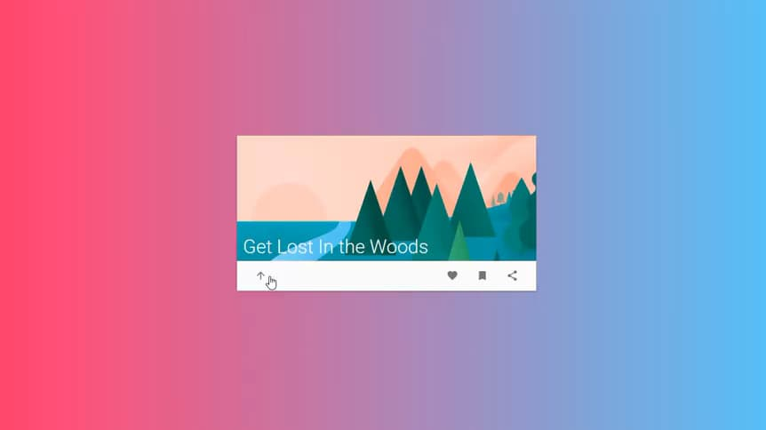 Animated Material jQuery Card Design