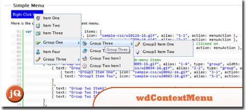 Jquery Context Menu Plugin – wdContextMen