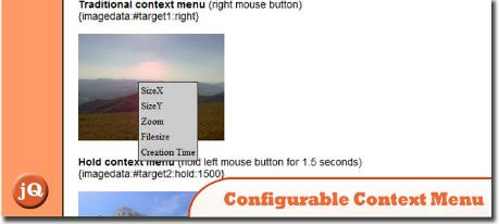 Configurable jQuery Context Menu