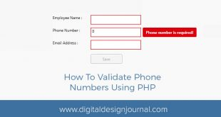 Phone Number Validation in PHP