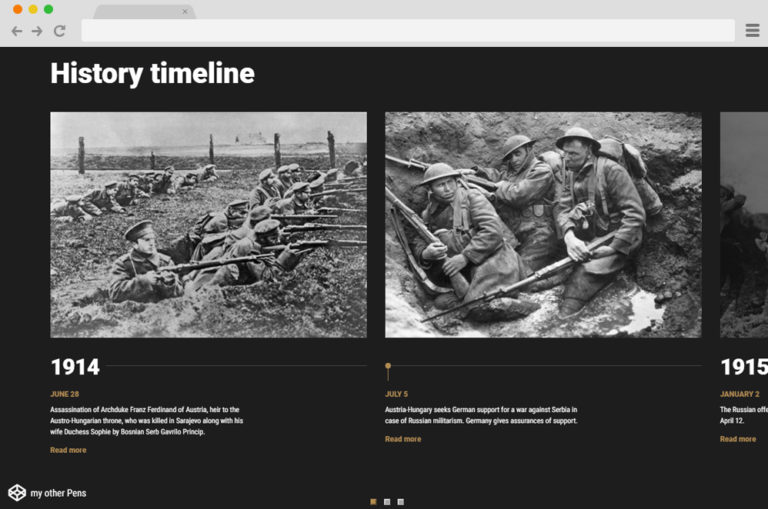 Responsive History Timeline