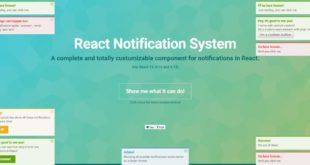 best react notification component
