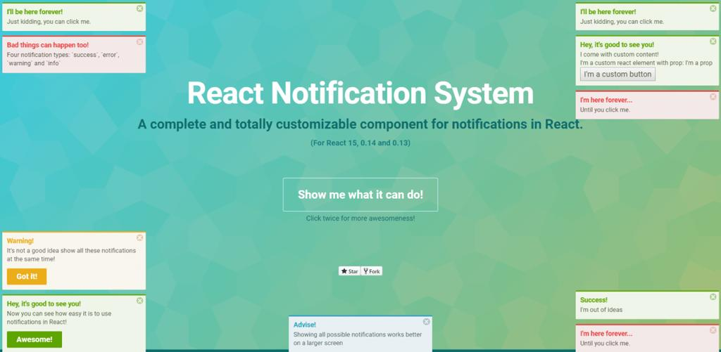 React Native Notification System