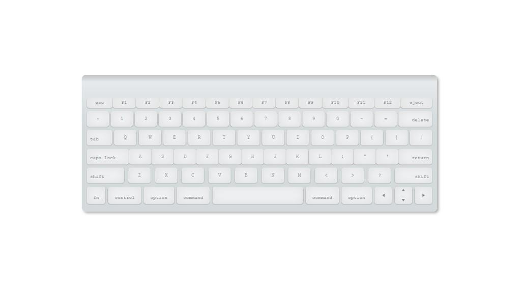 CSS – ONLY MAC Keyboard