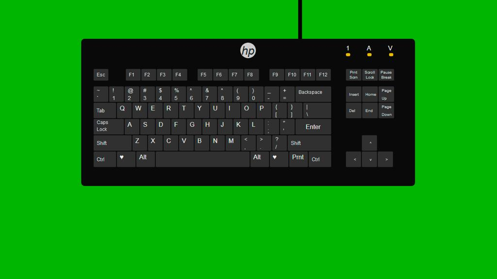 HTML and CSS Keyboard