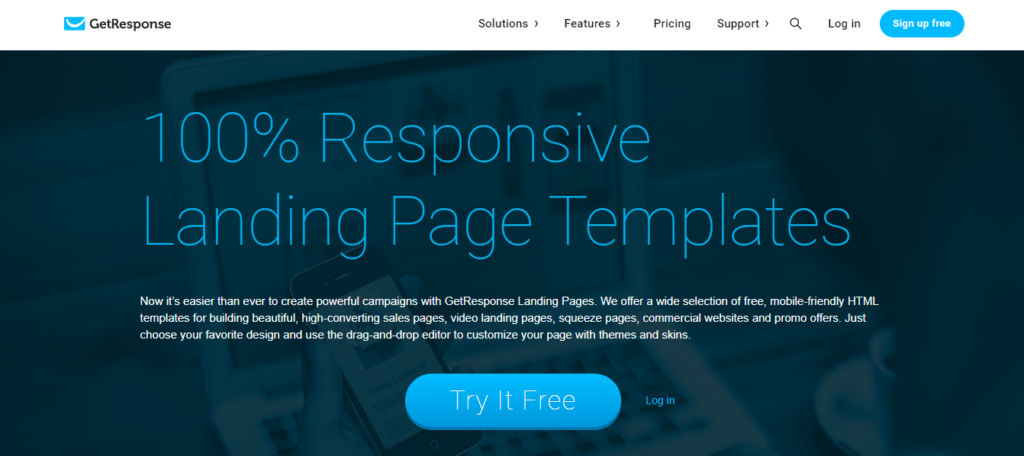 Best Landing Page Builder Software GetResponse