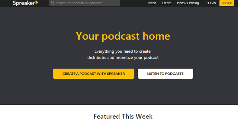 Best Podcast Hosting Spreaker