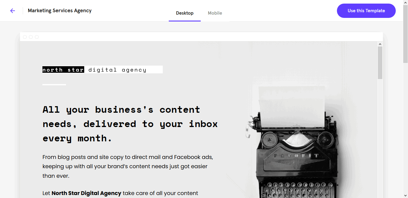 Minimalist Landing Pages